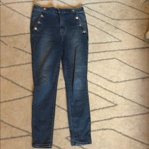 Free people size 30 stretch skinny jeans highwaist